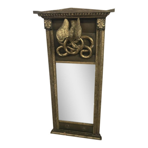 Early 19th Century Wood Carved Pier Mirror