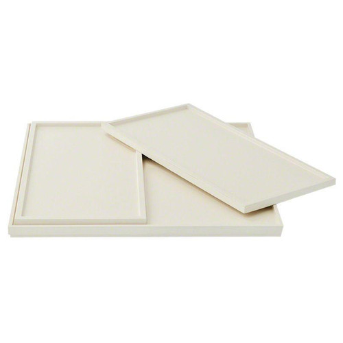 Barbara Barry Set of 3 Nesting Trays in Ivory Lacquer
