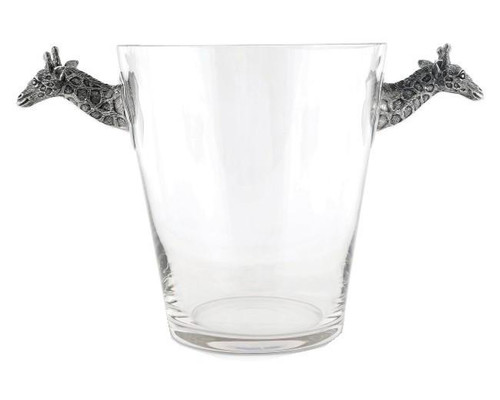 Glass Ice Bucket Giraffe Handles
