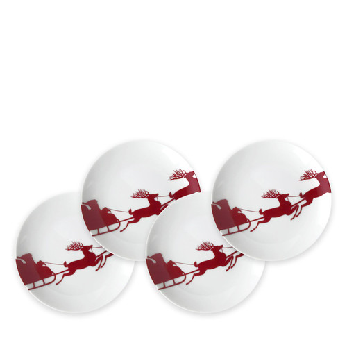 Sleigh Red Canapés Set of 4