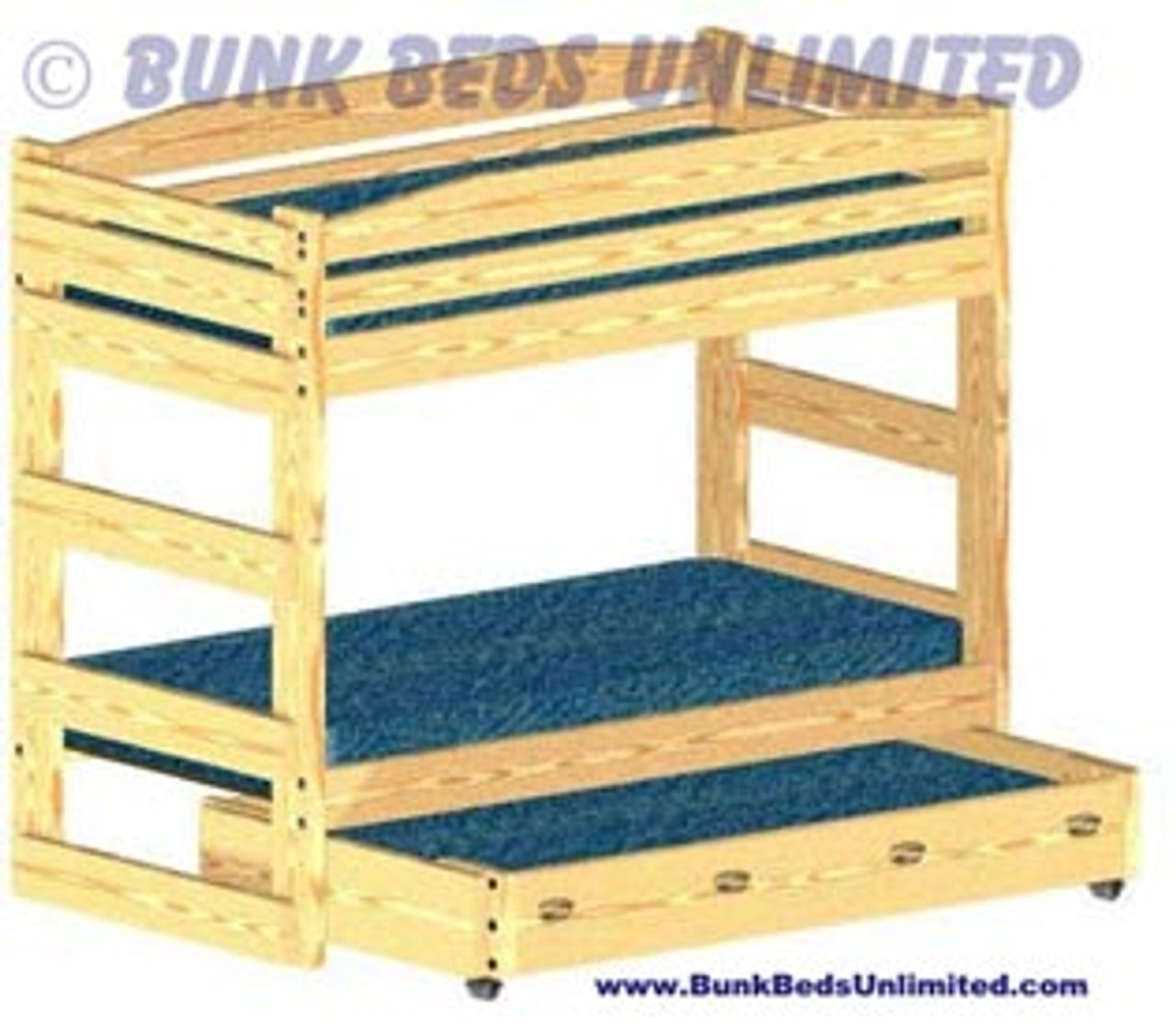 Plans To Build A Bunk Bed That Is A Stackable Twin With Trundle Bed