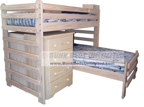 L-Shaped Bunk Bed Photo (similar model with chest)