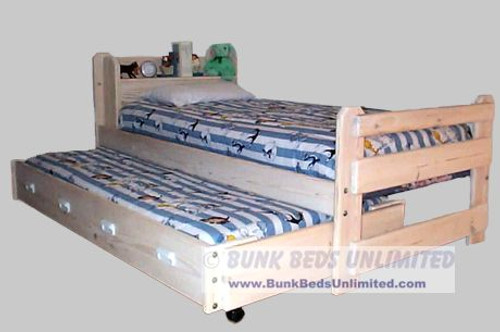 Trundle Bed Frontiersman Whitewash Finish