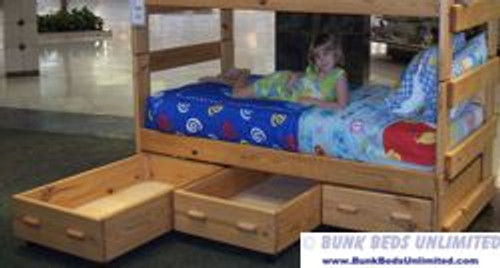 Bunk Bed Storage Drawers Set of Three