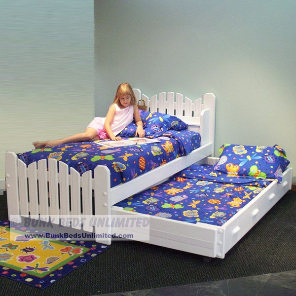 Trundle Bed Plans for Picket Fence Style Twin and Trundle Bed