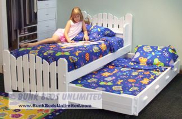 Picket Fence Style Trundle Bed