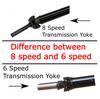 2014-2018 Silverado 2 piece conversion Drive Shaft Kit- High Horsepower - 2wd