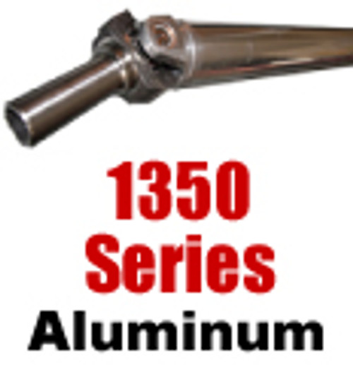 "1350 Aluminum Drive Shaft, 5"", up to 82"""