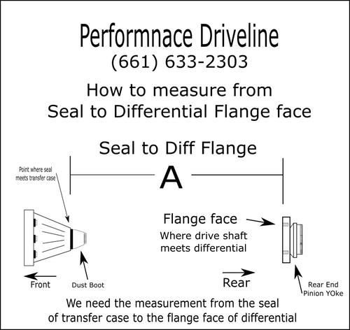 2003-2013 Dodge ram 2500/3500 Aluminum Drive Shaft - Built to Length -  1480/1485