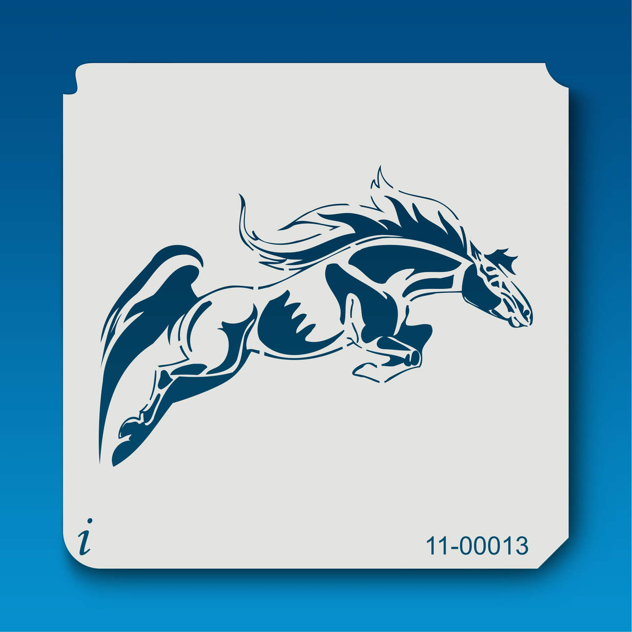 Jumping Horse  stencil 350 micron Mylar not thin stuff  #TaT0041