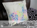 Spring Easter Bunny Pillow