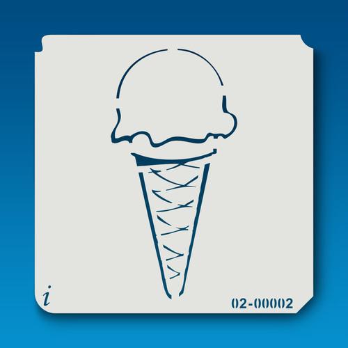 02-00002 Ice Cream Cone Stencil