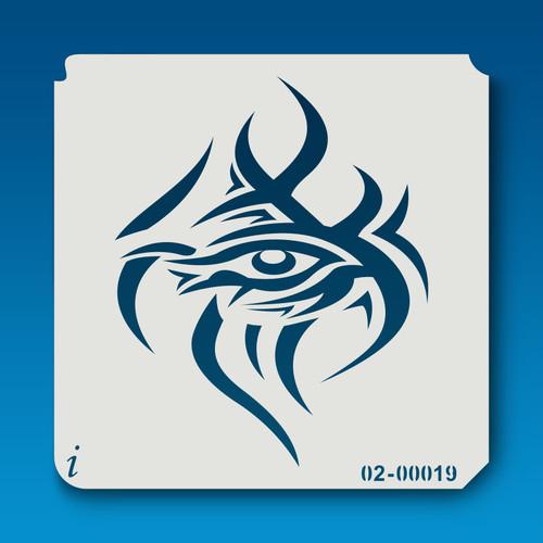 02-00019 Tribal Eye Stencil
