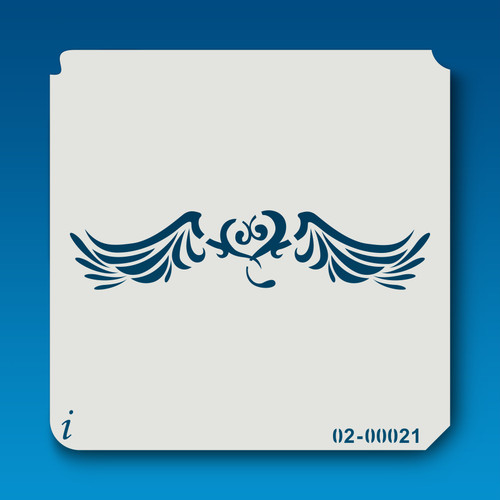 02-00021 heart & wings stencil