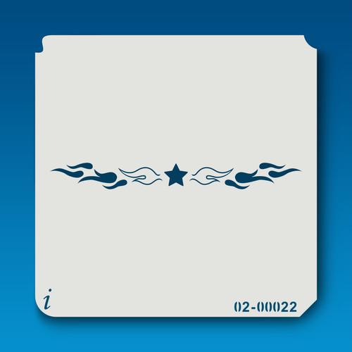 02-00022 star & flames stencil