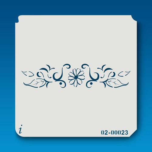 02-00023 floral border stencil