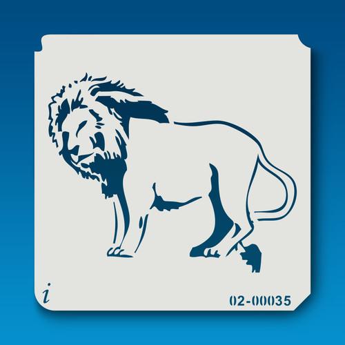 02-00035 Lion Animal Stencil