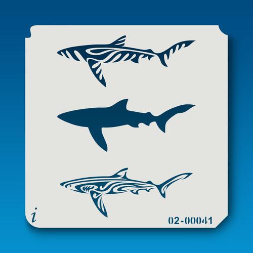 02-00041 Trio of Sharks