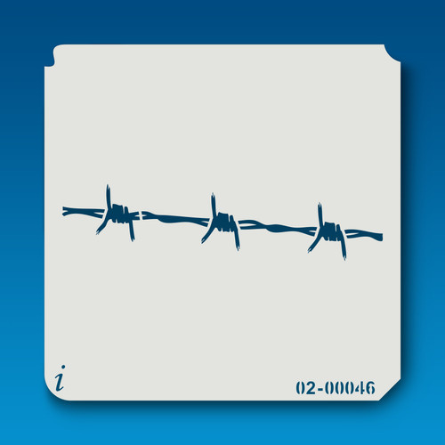 02-00046 Barbed Wire Fence Stencil