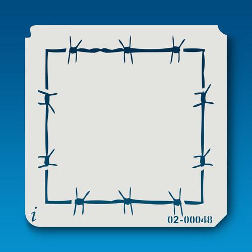 02-00048 Barbed Wire Frame Stencil