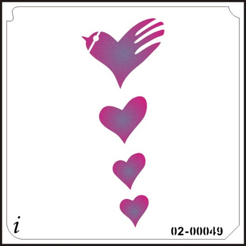 02-00049 Flying Heart Stencil