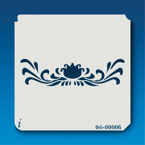04-00006 Pond Flower Border Stencil
