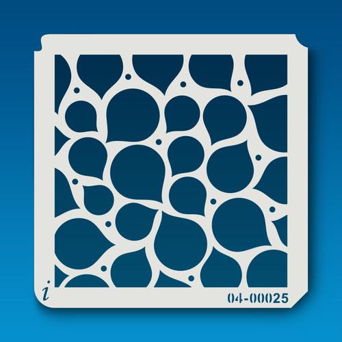 04-00025 Water Droplet Pattern Stencil