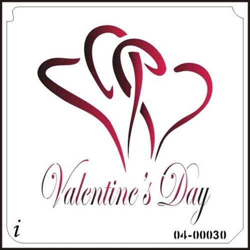 04-00030 Valentine's Day Heart Stencil