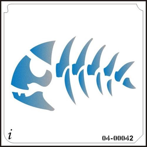 04-00042 Fish Skull Stencil