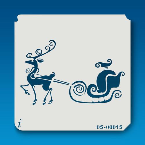 05-00015 Reindeer & Sleigh