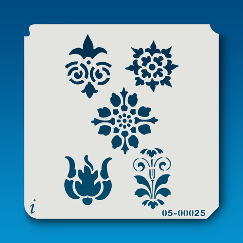05-00025 multiple flower stencil