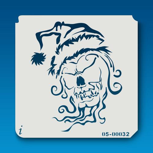 05-00032 Santa Skull Stencil