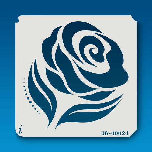 06-00024 Rose Silhouette 2 Stencil