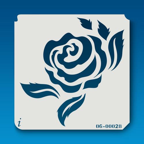 06-00028 Rose Silhouette 6 Stencil