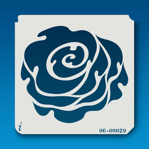 06-00029 Rose Silhouette 7 Stencil