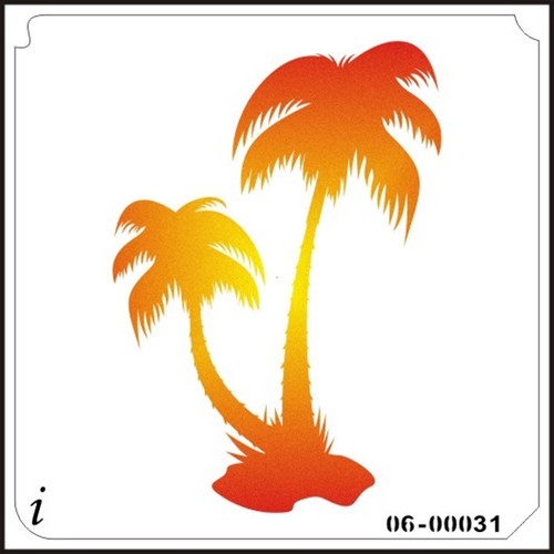06-00031 Tropical Palm Trees Stencil