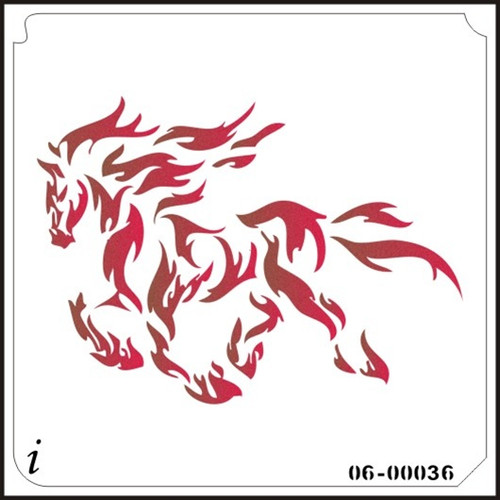 06-00036 Flaming Horse Stencil