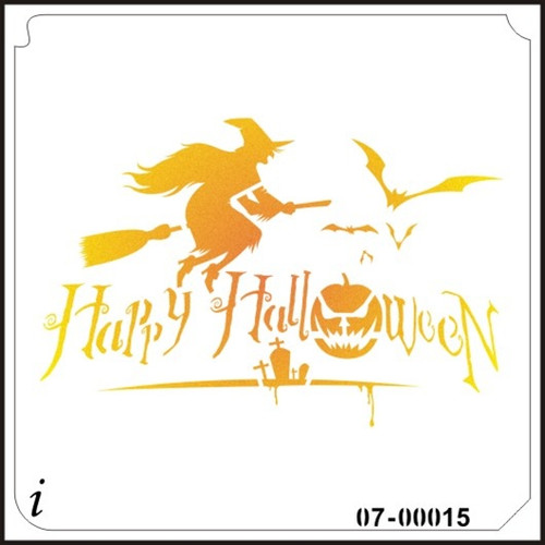 07-00015 Witch Happy Halloween