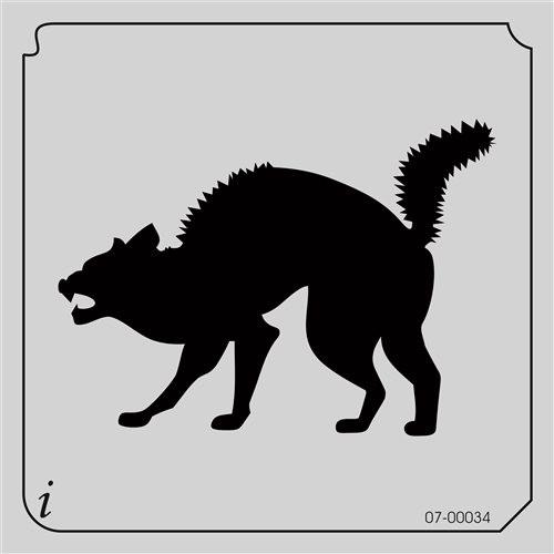 07-00034 Scared Cat Animal Stencil