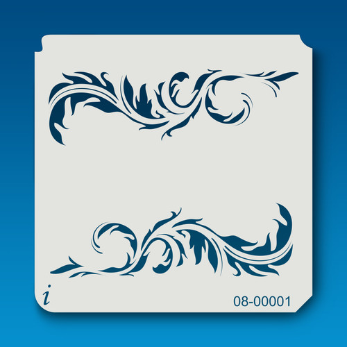 08-00001 Feather Border Stencil
