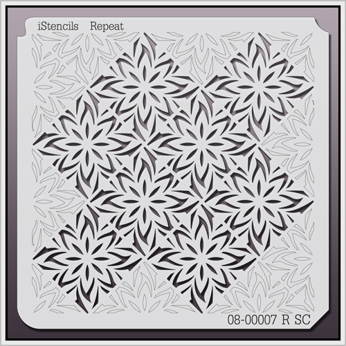 08-00007 R SC Repeating Poinsettia Stencil