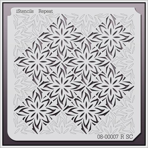 08-00007 R SC Repeating Poinsettia Stencil