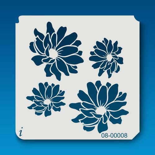 08-00008 Chrysanthemum Flowers Stencil