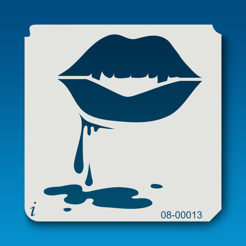 08-00013 Dripping Lips Large Stencil