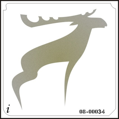 08-00034 Moose animal stencil
