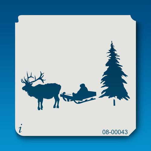 08-00043 Reindeer & Sled