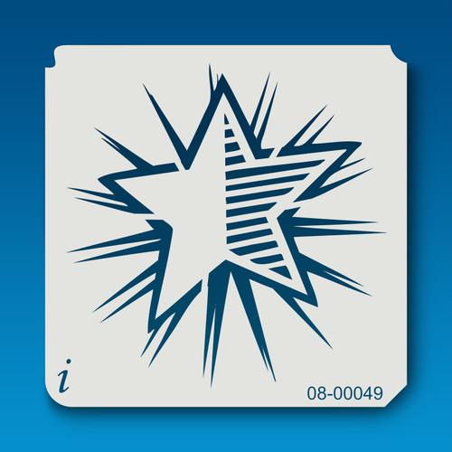 08-00049 Shining Star Craft Stencil