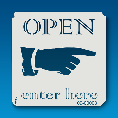 09-00003 Open Enter Here Sign