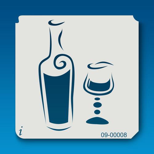 09-00008 Wine Stencil Template
