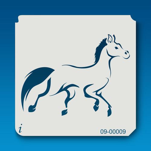 09-00009  Pony Animal Stencil